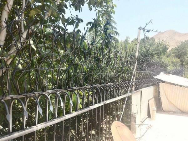 حفاظ شاخ گوزنی نصب شده بر روی حفاظ سرنیزه ای