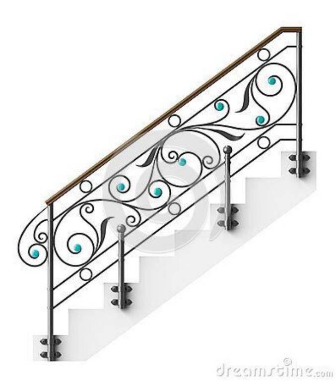حفاظ راه پله با تکه های فیروزه ای