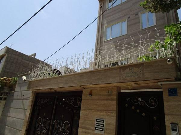 نمونه حفاظ شاخ گوزنی بر روی کنسول بالای درب